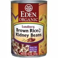 Specialty Sections - Macrobiotic - Eden Foods - Eden Foods Brown Rice & Kidney Beans 15 oz (6 Pack)