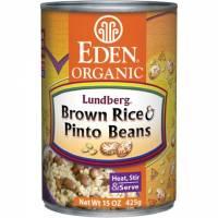 Specialty Sections - Macrobiotic - Eden Foods - Eden Foods Brown Rice & Pinto Beans 15 oz (6 Pack)
