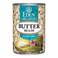 Grocery - Beans & Lentils - Eden Foods - Eden Foods Organic Butter Beans 15 oz (6 Pack)