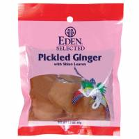 Specialty Sections - Macrobiotic - Eden Foods - Eden Foods Pickled Ginger with Shiso Leaves 2.1 oz (6 Pack)