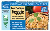 Gluten Free - Sauces & Spreads - Edward & Sons - Edward & Sons Bouillon Cubes 2.2 oz - Low Sodium Veggie (12 Pack)