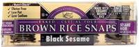 Grocery - Crackers - Edward & Sons - Edward & Sons Brown Rice Snaps 3.5 oz - Black Sesame (12 Pack)