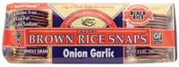 Grocery - Macrobiotic - Edward & Sons - Edward & Sons Brown Rice Snaps 3.5 oz - Onion Garlic (12 Pack)