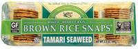 Grocery - Crackers - Edward & Sons - Edward & Sons Brown Rice Snaps 3.5 oz - Tamari Seaweed (12 Pack)