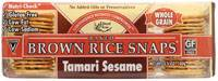 Grocery - Crackers - Edward & Sons - Edward & Sons Brown Rice Snaps 3.5 oz - Tamari Sesame (12 Pack)