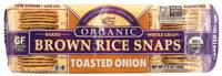 Grocery - Crackers - Edward & Sons - Edward & Sons Brown Rice Snaps 3.5 oz - Toasted Onion (12 Pack)