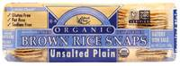 Grocery - Crackers - Edward & Sons - Edward & Sons Brown Rice Snaps 3.5 oz - Unsalted Plain (12 Pack)