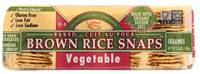Grocery - Crackers - Edward & Sons - Edward & Sons Brown Rice Snaps 3.5 oz - Vegetable (12 Pack)