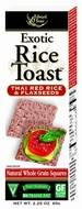 Grocery - Crackers - Edward & Sons - Edward & Sons Exotic Rice Toast 2.25 oz - Thai Red Rice & Flaxseeds (12 Pack)