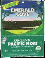 Grocery - Sea Vegetables - Emerald Cove - Emerald Cove Organic Pacific Untoasted Nori 0.9 oz 10 ct (6 Pack)