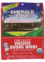 Grocery - Macrobiotic - Emerald Cove - Emerald Cove Sushi Nori Toasted 0.9 oz 10 ct (6 Pack)