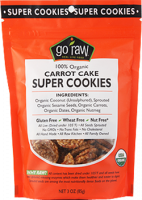 Gluten Free - Nutrition Bars & Snacks - Go Raw - Go Raw Carrot Cake Super Cookies 3 oz (6 Pack)