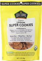Gluten Free - Nutrition Bars & Snacks - Go Raw - Go Raw Lemon Super Cookies 3 oz (6 Pack)