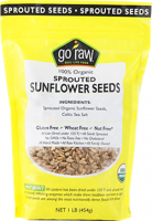 Grocery - Nuts & Seeds - Go Raw - Go Raw Sprouted Sunflower Seeds 16 oz (6 Pack)