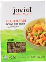 Gluten Free - Grains - Jovial - Jovial Organic Brown Rice Fusilli 12 oz (12 Pack)