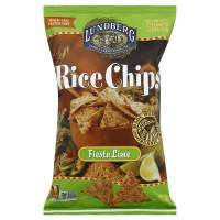 Grocery - Chips - Lundberg Farms - Lundberg Farms Organic Fiesta Lime Rice Chips 6 oz (6 Pack)