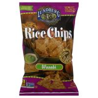Grocery - Chips - Lundberg Farms - Lundberg Farms Organic Wasabi Rice Chips 6 oz (6 Pack)
