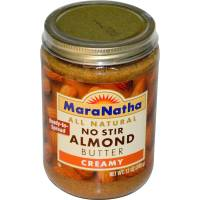 Grocery - Nuts & Seed Butters - Maranatha Natural Foods - Maranatha Natural Foods No Stir Almond Butter 16 oz - Creamy (6 Pack)