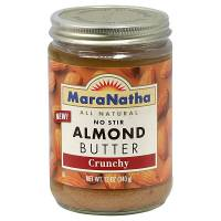 Grocery - Nuts & Seed Butters - Maranatha Natural Foods - Maranatha Natural Foods No Stir Almond Butter 16 oz - Crunchy (6 Pack)