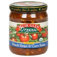 Muir Glen Organic Medium Salsa 16 oz - Black Bean & Corn (12 Pack)