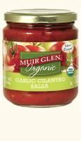 Muir Glen Organic Medium Salsa 16 oz - Garlic Cilantro (12 Pack)