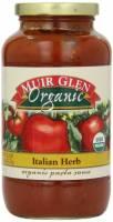 Muir Glen Organic Pasta Sauce 25.5 oz - Italian Herbs (12 Pack)