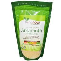 Vegan - Nuts & Seeds - Now Foods - Now Foods Amaranth Grain Certified Organic 16 oz