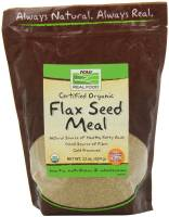 Vegan - Nuts & Seeds - Now Foods - Now Foods Flax Seed Meal Certified Organic 22 oz