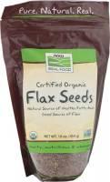 Vegan - Nuts & Seeds - Now Foods - Now Foods Flax Seeds Certified Organic 16 oz