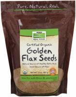 Vegan - Nuts & Seeds - Now Foods - Now Foods Golden Flax Seeds Certified Organic 2 lb