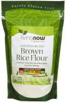 Grocery - Baking Mixes & Extracts - Now Foods - Now Foods Organic Brown Rice Flour 1 lb