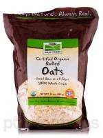 Vegan - Nuts & Seeds - Now Foods - Now Foods Rolled Oats Certified Organic 24 oz