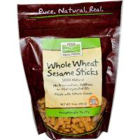 Grocery - Crackers - Now Foods - Now Foods Whole Wheat Sesame Sticks 9 oz
