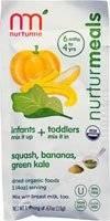 Non-GMO - Baby - Nurturme - Nurturme Organic Baby Food - Banana, Squash & Kale .67 oz (8 Pack)