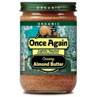 Grocery - Nuts & Seed Butters - Once Again - Once Again Organic Almond Butter 16 oz - Creamy Lightly Toasted (6 Pack)