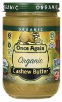 Grocery - Nuts & Seed Butters - Once Again - Once Again Organic Cashew Butter 16 oz (6 Pack)