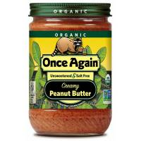 Grocery - Nuts & Seed Butters - Once Again - Once Again Organic Peanut Butter 16 oz - Creamy No Sodium (6 Pack)