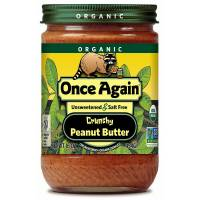 Grocery - Nuts & Seed Butters - Once Again - Once Again Organic Peanut Butter 16 oz - Crunchy No Sodium (6 Pack)