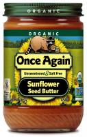 Grocery - Nuts & Seed Butters - Once Again - Once Again Organic Sunflower Butter 16 oz - No Sodium (6 Pack)