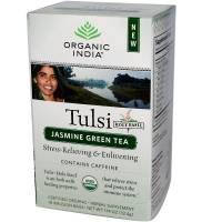 Organic India - Organic India Tulsi Tea Jasmine Green w/Caffeine 18 bag