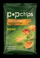 Grocery - Chips - Pop Chips - Pop Chips 3 oz- Olive Oil Veggie Chips (12 Pack)
