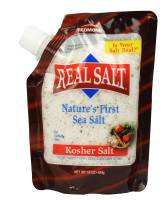 Grocery - Salt - Real Salt - Real Salt Kosher Sea Salt Pouch 16 oz (6 Pack)