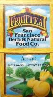 San Francisco Herb & Teas - San Francisco Herb & Teas Apricot Black Tea (caffeine) 36 bags