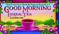 San Francisco Herb & Teas - San Francisco Herb & Teas Good Morning Herb Tea 24 bags