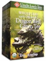 Uncle Lee's Tea - Uncle Lee's Tea Whole Leaf Organic Dragon Well Green Tea 18 bag
