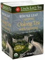 Uncle Lee's Tea - Uncle Lee's Tea Whole Leaf Organic Ginseng Oolong Tea 18 bag