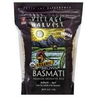 Village Harvest Organic Indian Basmati Brown Rice 16 oz (6 Pack)