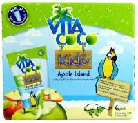Grocery - Beverages - Vita Coco - Vita Coco Kids Coconut Water Apple Island 11.1 fl oz 6 Pack
