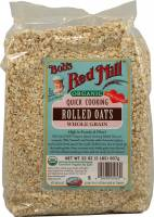 Grocery - Oatmeal - Bob's Red Mill - Bob's Red Mill Organic Quick Rolled Oats 32 oz (4 Pack)