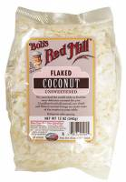 Bob's Red Mill Unsweetened Coconut Flakes 12 oz (4 Pack)